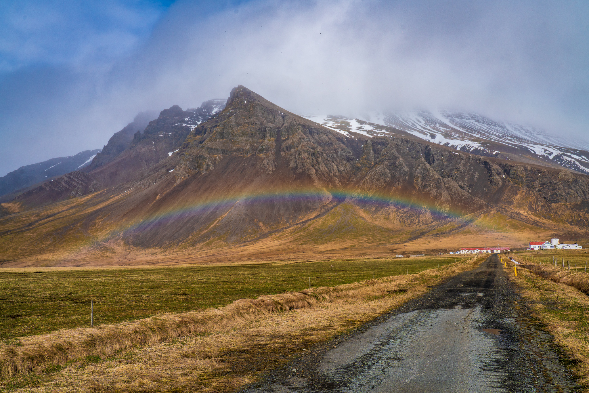 Rainbow Iceland Mountains