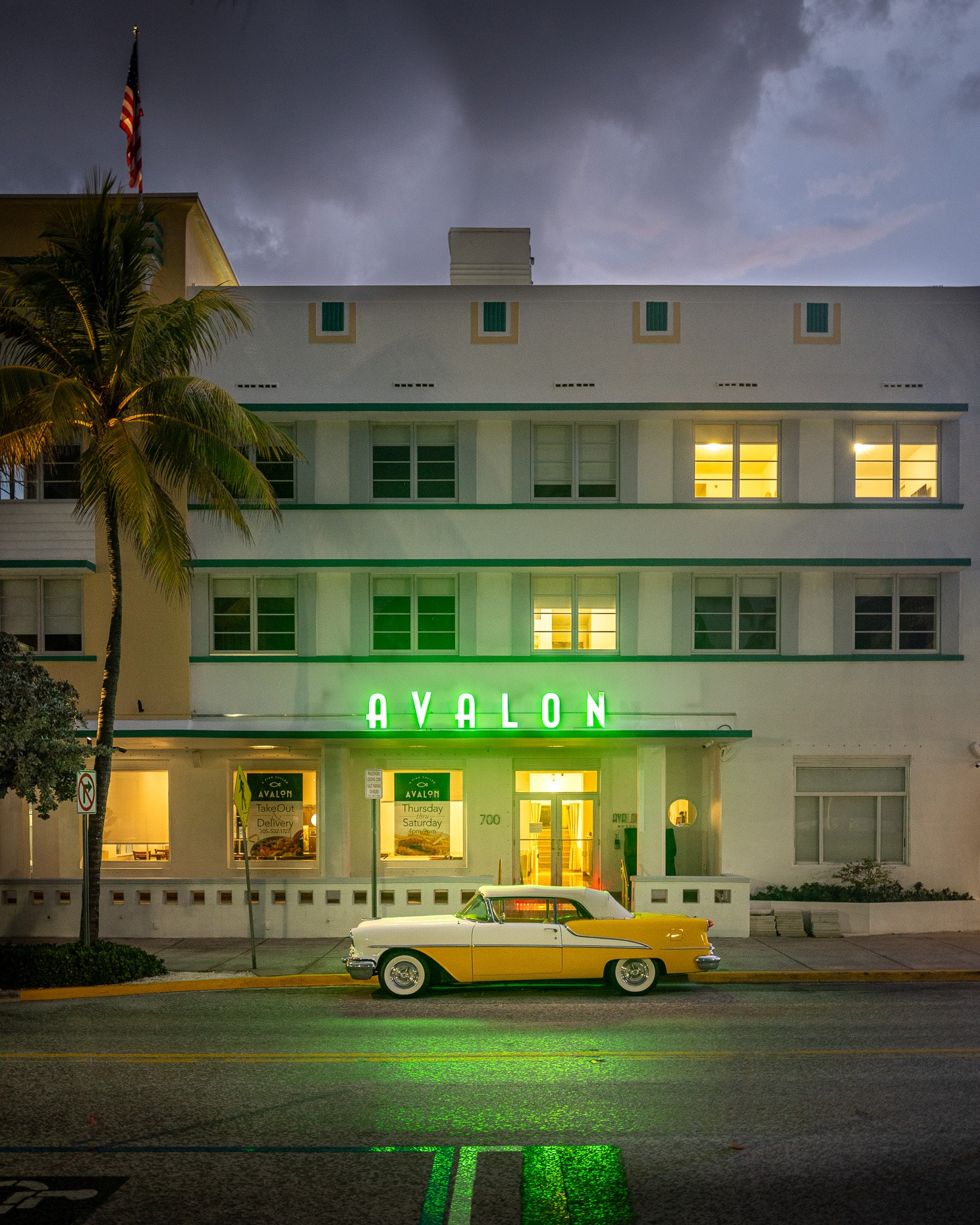 Avalon Hotel with Car