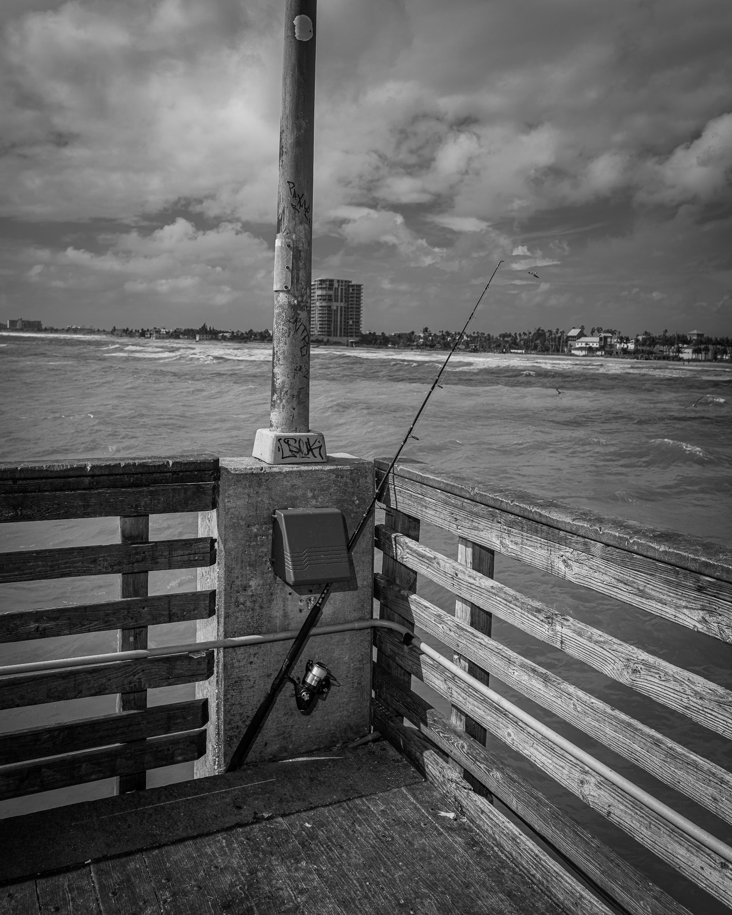 fishing pole Dania pier