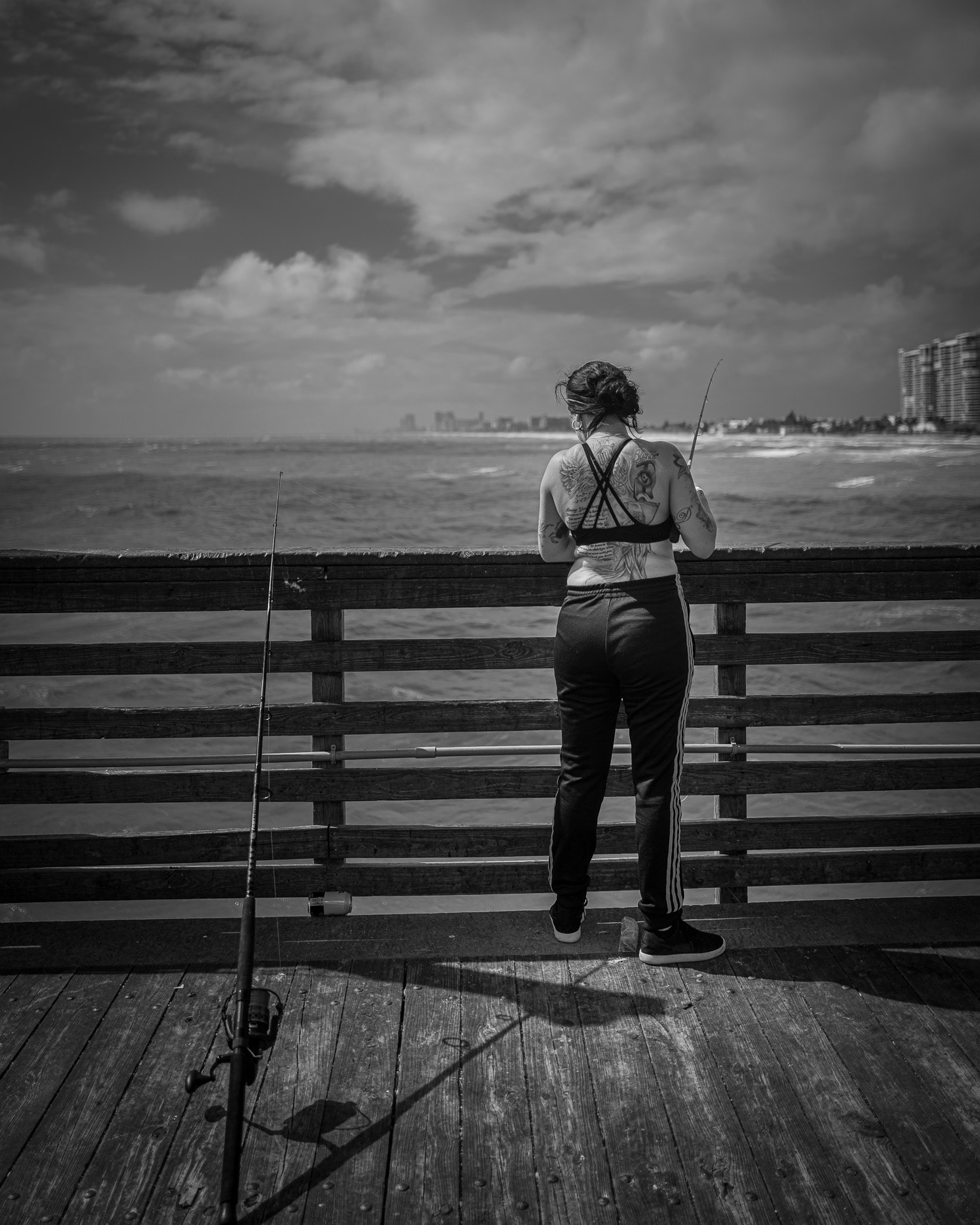 Fishing on Dania Beach pier