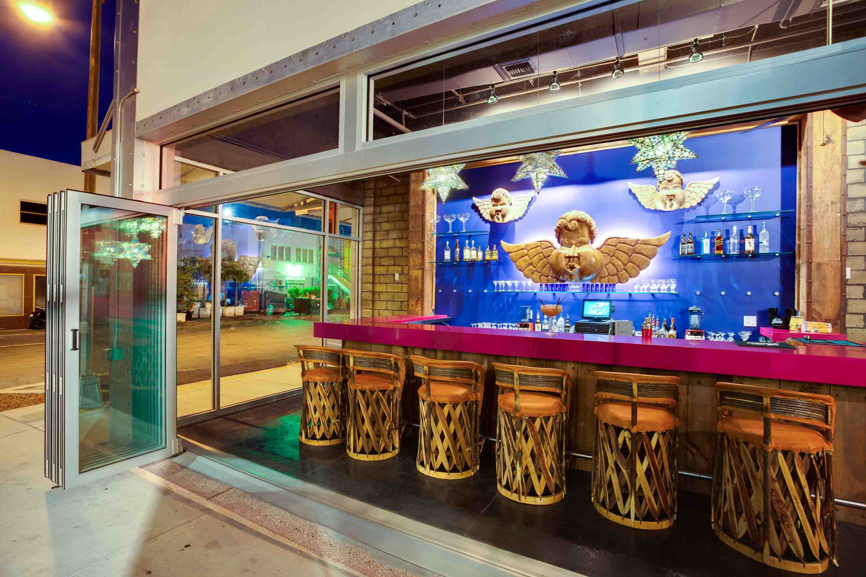 Miami Beach Tequila and Tacos bar in an South Beach Alley